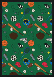 Joy Carpet Multi-Sport Rug - Green