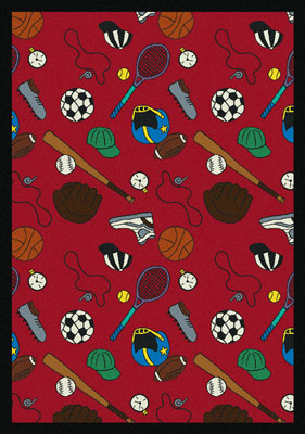 Joy Carpet Multi-Sport Rug - Red