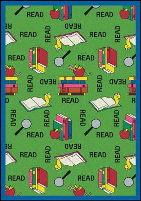 Joy Carpet Bookworm Rug - Green