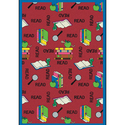 Joy Carpet Bookworm Rug - Red