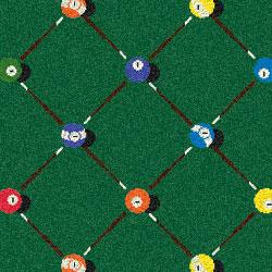 Joy Carpet Billiards Rug - Green
