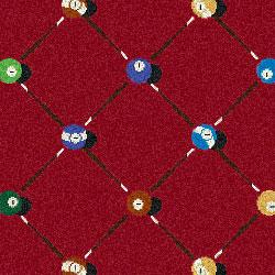 Joy Carpet Billiards Rug - Red