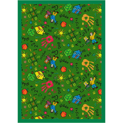 Joy Carpet Scribbles Rug - Green