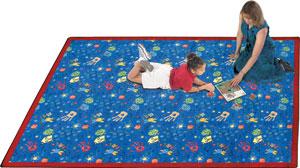Joy Carpet Scribbles Rug - Blue