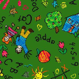 Joy Carpet Scribbles Rug - Green
