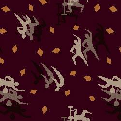 Joy Carpet Fitness Zone Rug - Burgundy