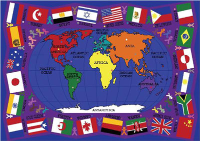 Joy Carpet Flags of The World Rug