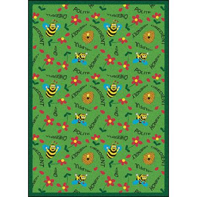 Joy Carpet Bee Attitudes Rug - Green