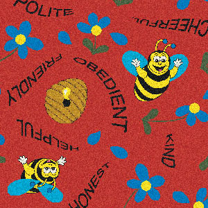 Joy Carpet Bee Attitudes Rug - Red
