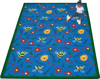 Joy Carpet Bee Attitudes Rug - Blue