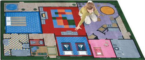 Joy Carpet Creative Play House Rug
