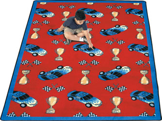 Joy Carpet Start Your Engines Rug - Red