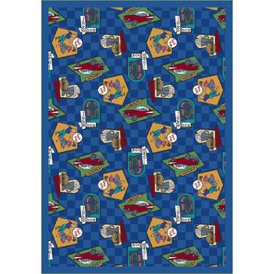 Joy Carpet Fabulous Fifties Rug - Blue