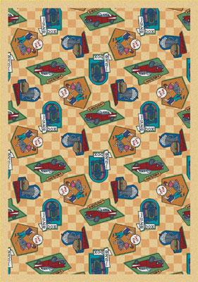 Joy Carpet Fabulous Fifties Rug - Gold