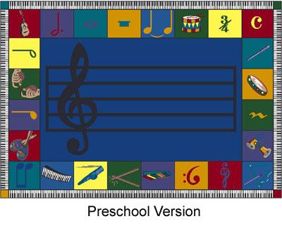 Joy Carpet Note Worthy Rug - Preschool