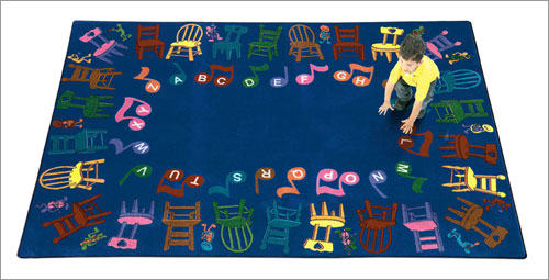 Joy Carpet Musical Chairs Rug