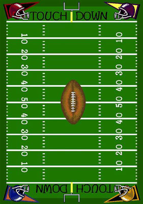 Joy Carpet Football Fun Rug