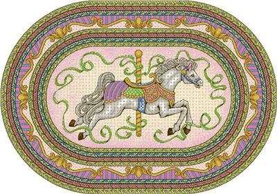 Joy Carpet Carousel Rug - Pink
