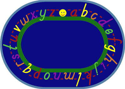 Joy Carpet Alphascript Rug - Blue
