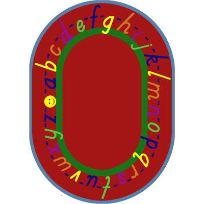 Joy Carpet Alphascript Rug - Red
