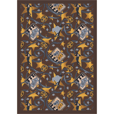 Joy Carpet Silver Screen Rug - Chocolate