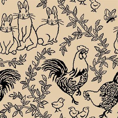 Joy Carpet Feathers and Fur Rug - Black