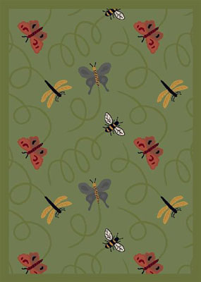 Joy Carpet Wing Dings Rug - Green