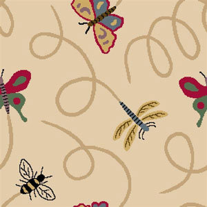 Joy Carpet Wing Dings Rug - Beige