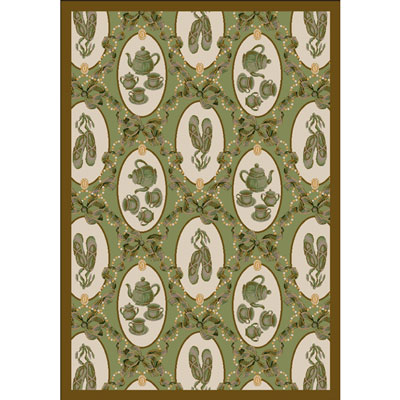 Ribbons and Bows Rug - Green - Joy Carpet