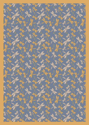 Joy Carpet Dragonflies Rug - Blue