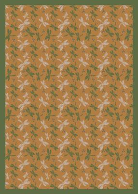 Joy Carpet Dragonflies Rug - Gold