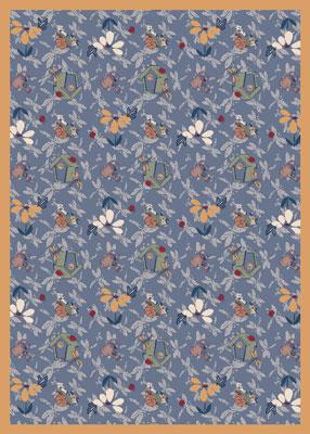 Joy Carpet Flower Garden Rug - Blue