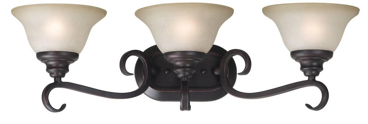 Oil Rubbed Bronze Three Globe Bathroom Vanity Light Bar: Kenroy Home Welles 3 Light Vanity