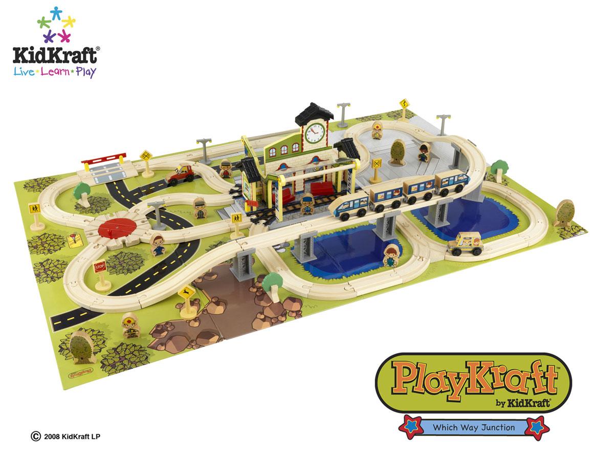 KidKraft Which Way Junction Train Set - PlayKraft by Kidkraft