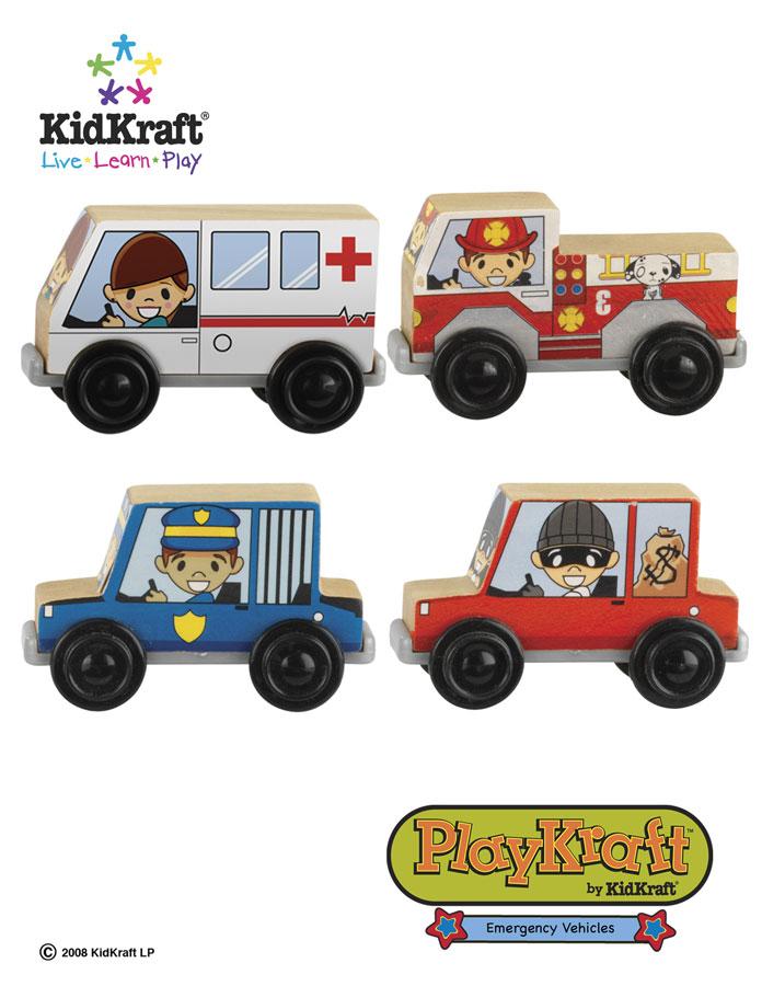 KidKraft Emergency Vehicles Train Set Accessories - PlayKraft by Kidkraft