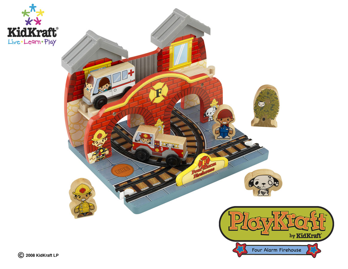 KidKraft Four Alarm Firehouse Train Set Accessories - PlayKraft by Kidkraft
