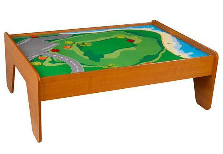KidKraft Train Table with 2 Trundle Drawers - Honey