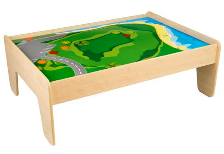 Kidkraft Train Table With 2 Trundle Drawers Natural