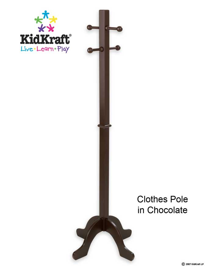 KidKraft Clothes Pole- Chocolate - Kidkraft