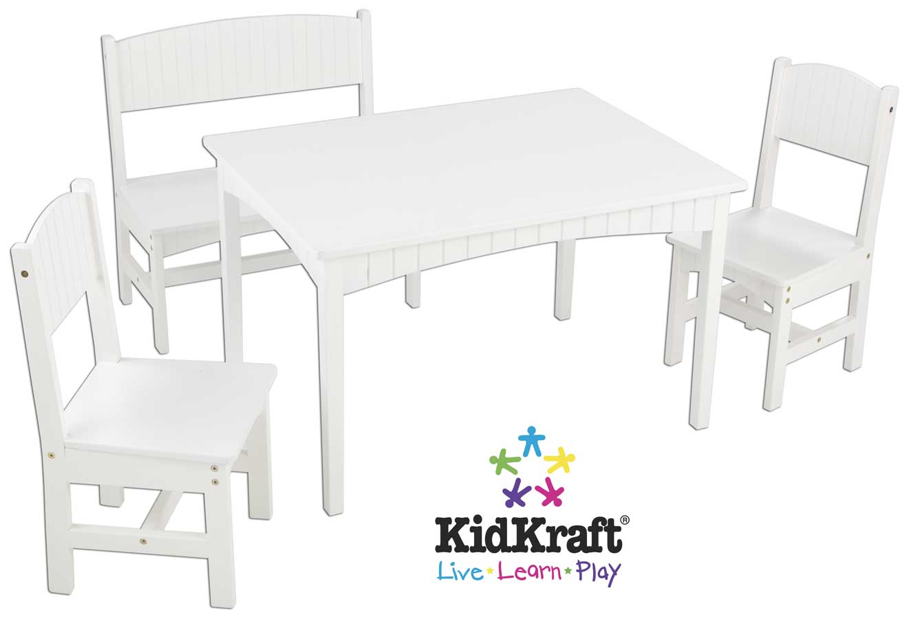 Incredible Kidkraft Nantucket Table With Bench And 2 Chairs Kidkraft Machost Co Dining Chair Design Ideas Machostcouk