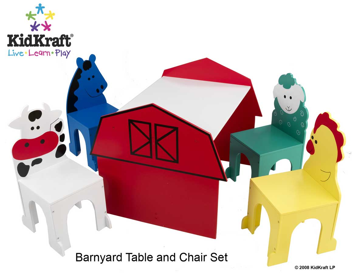 Cheap KidKraft Barnyard Table and Chair Set