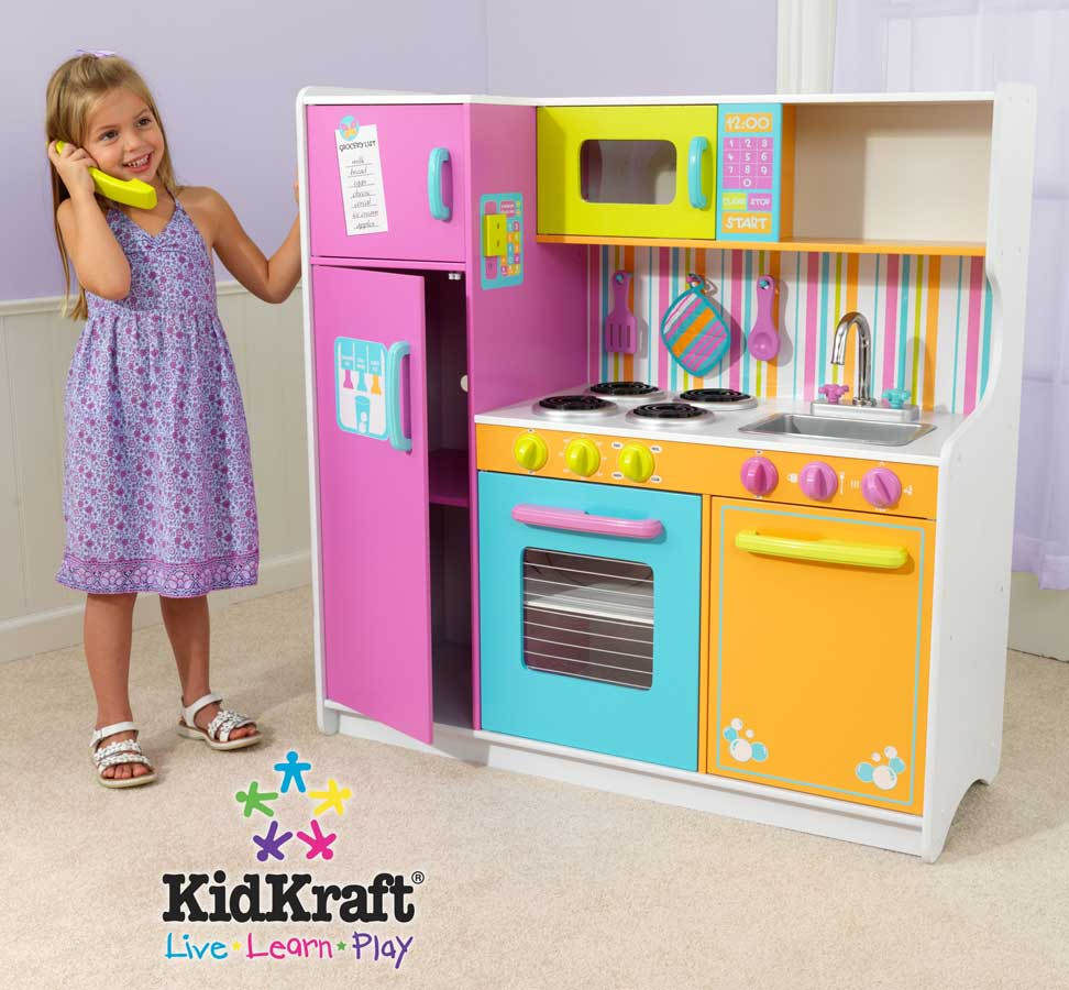 Kidkraft deluxe big and bright kitchen kidkraft 53100 at Bright kitchen