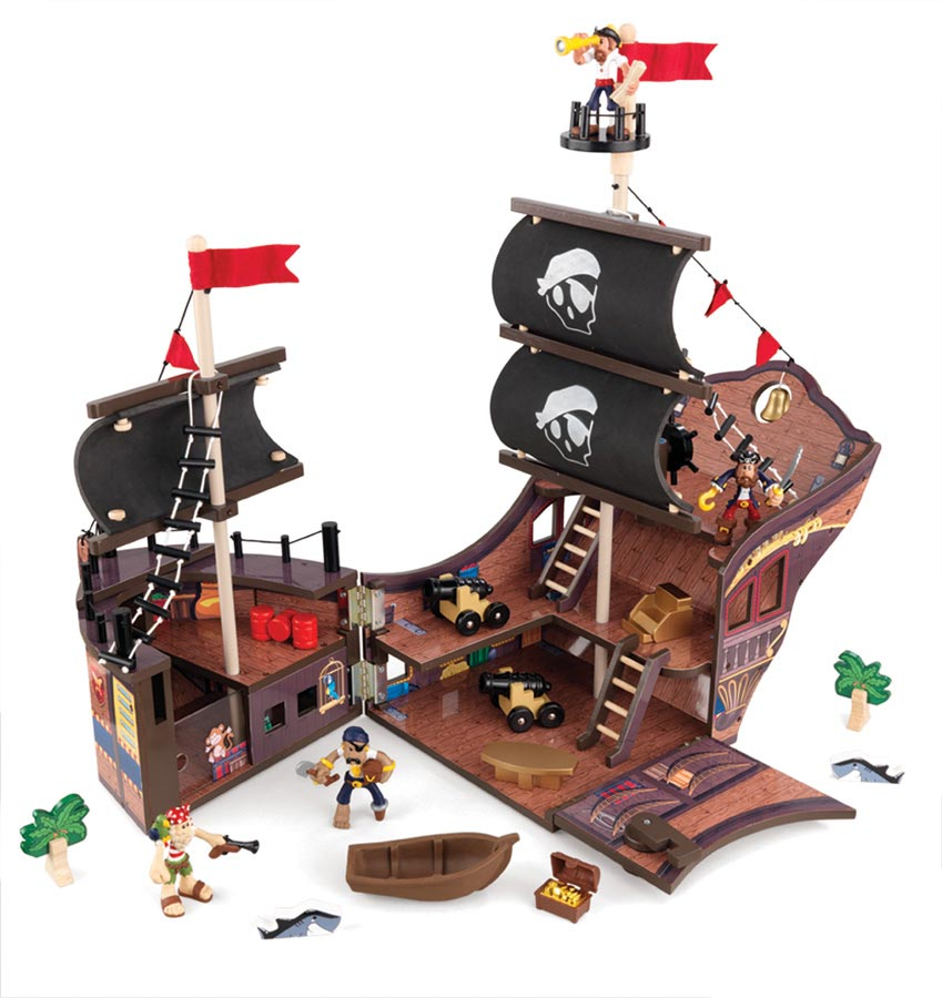 KidKraft Fun Explorers Pirate Ship Set