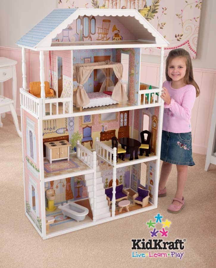 Limited Supply Kidkraft 65023 New Savannah Dollhouse Kidkraft Good Swing Sets