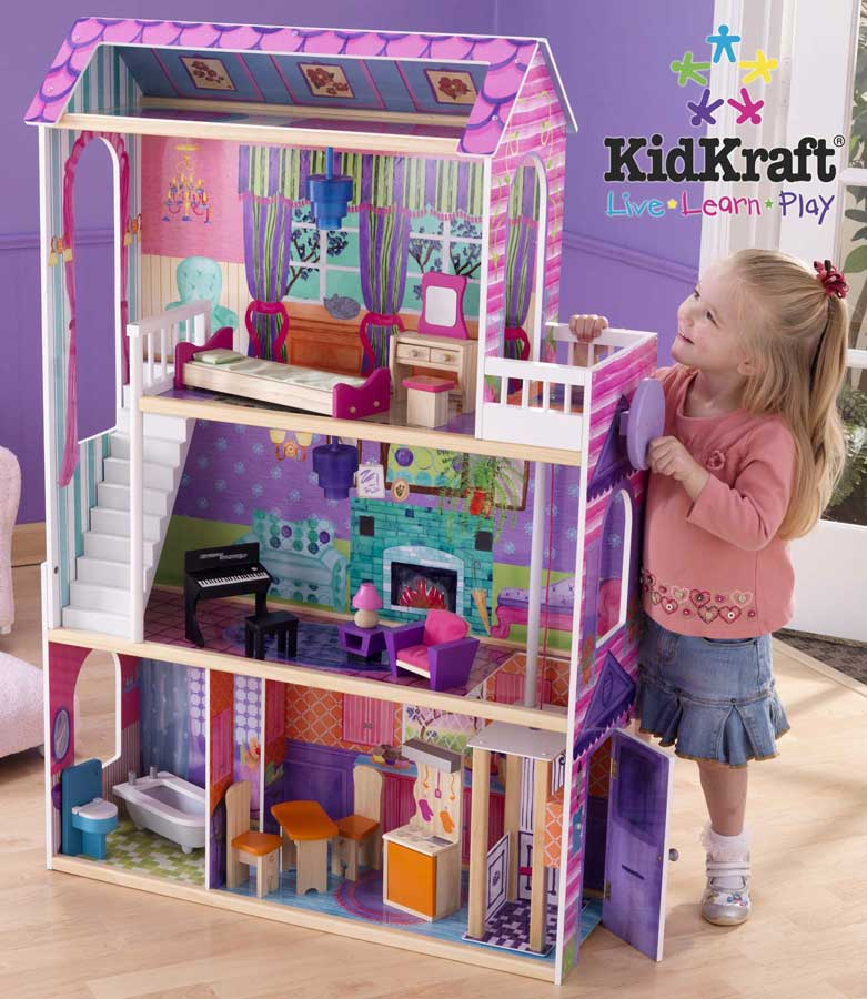 KidKraft Interactive Dollhouse with 14 Pcs Furniture - Kidkraft