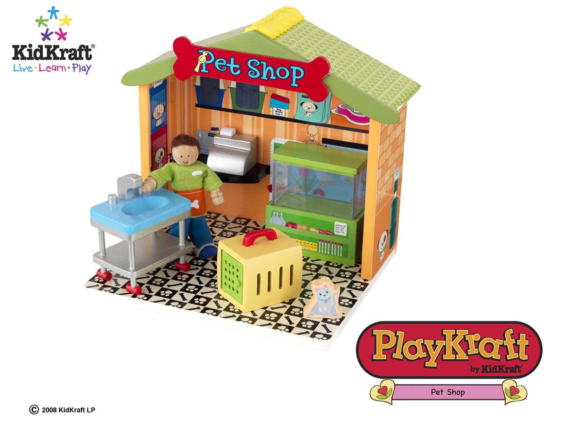 KidKraft Pet Shop 7 Pieces - PlayKraft by Kidkraft