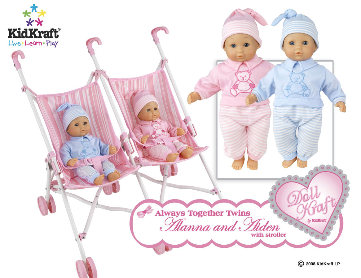 KidKraft Always Together Twins with Stroller - DollKraft by Kidkraft