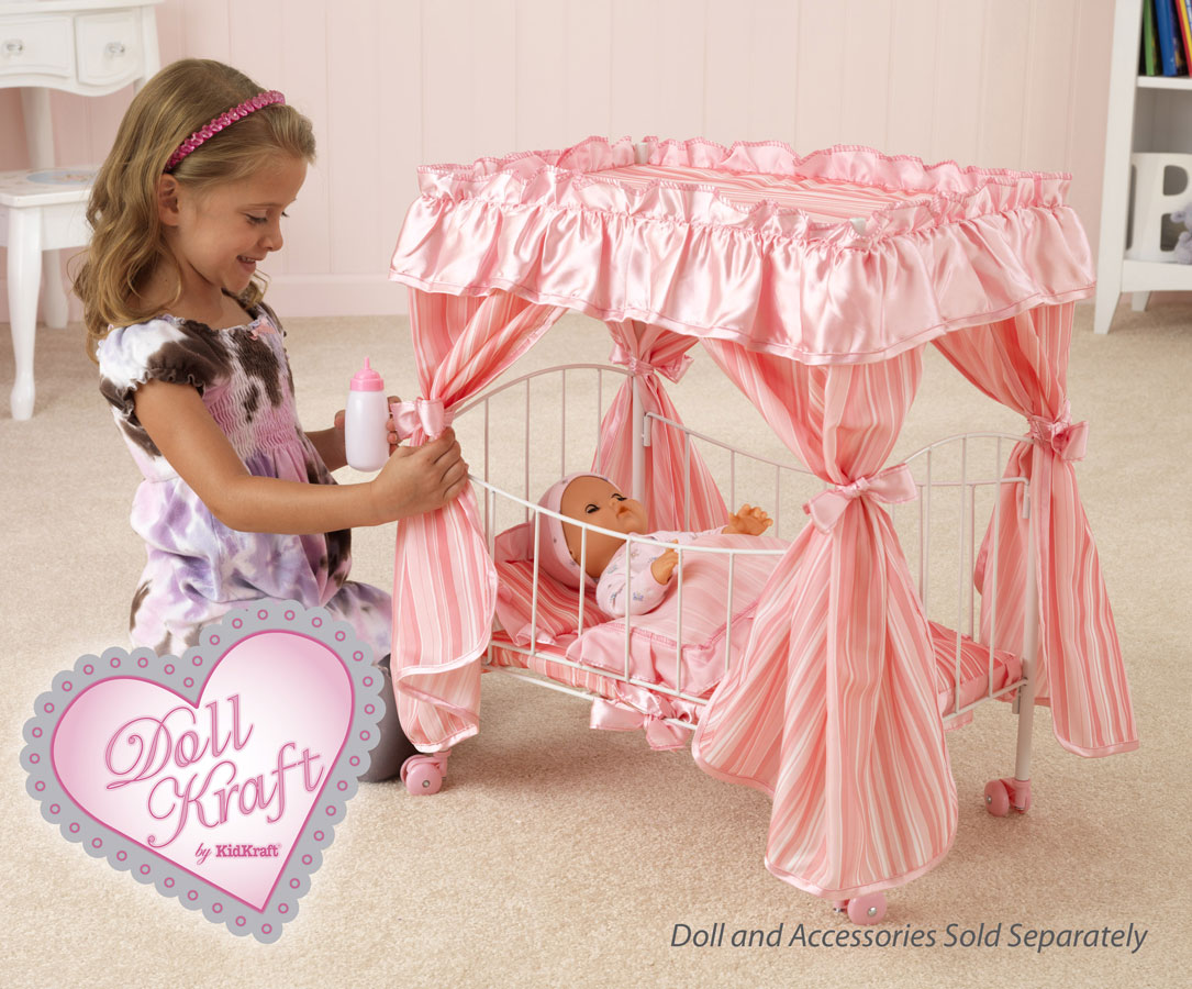 KidKraft Comfy and Cozy Canopy Bed - DollKraft by Kidkraft