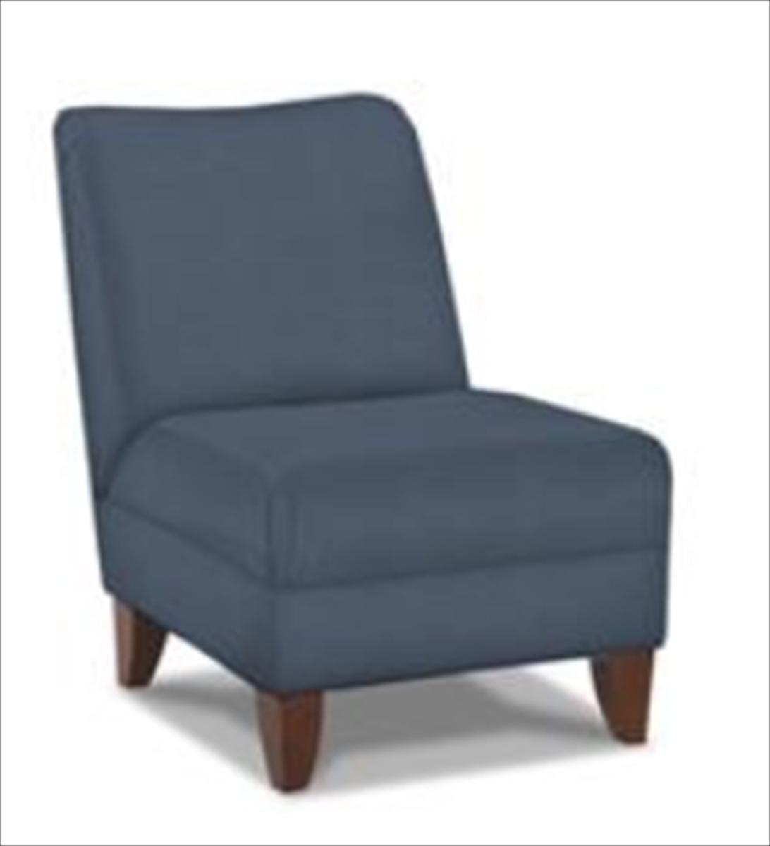Klaussner Linus Armless Chair - Willow Bluestone