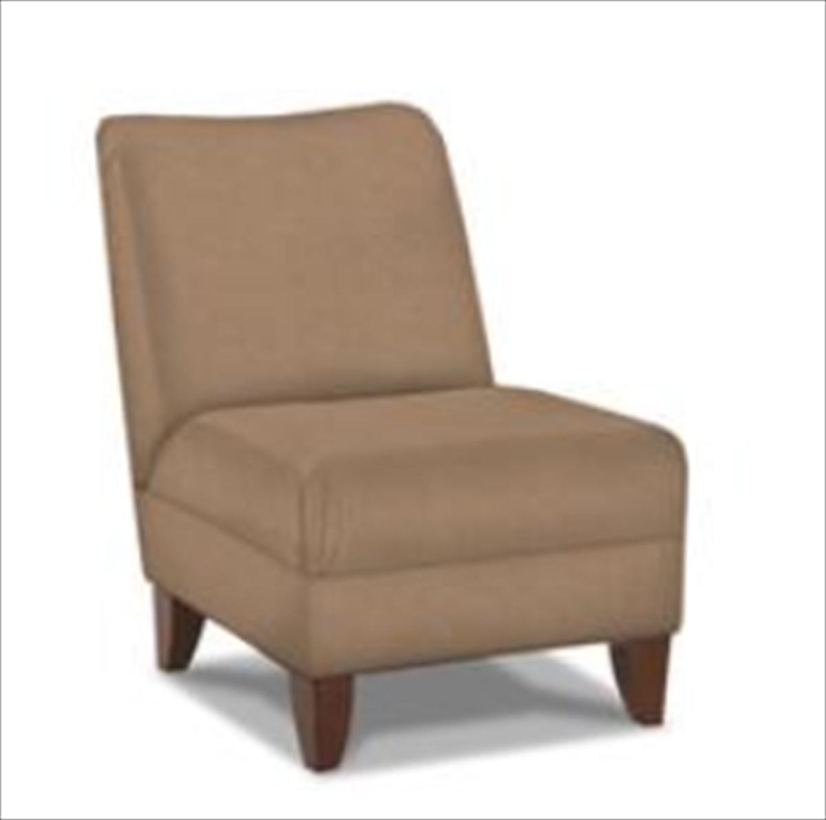 Klaussner Linus Armless Chair - Willow Bronze